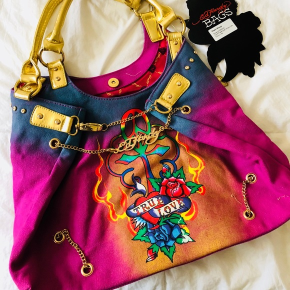 b2e7c0b9ccc3 Authentic Ed Hardy Purse-Brand New